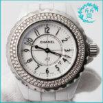 シャネルの時計J12 H0967ホワイト!ダイヤ入り買取価格