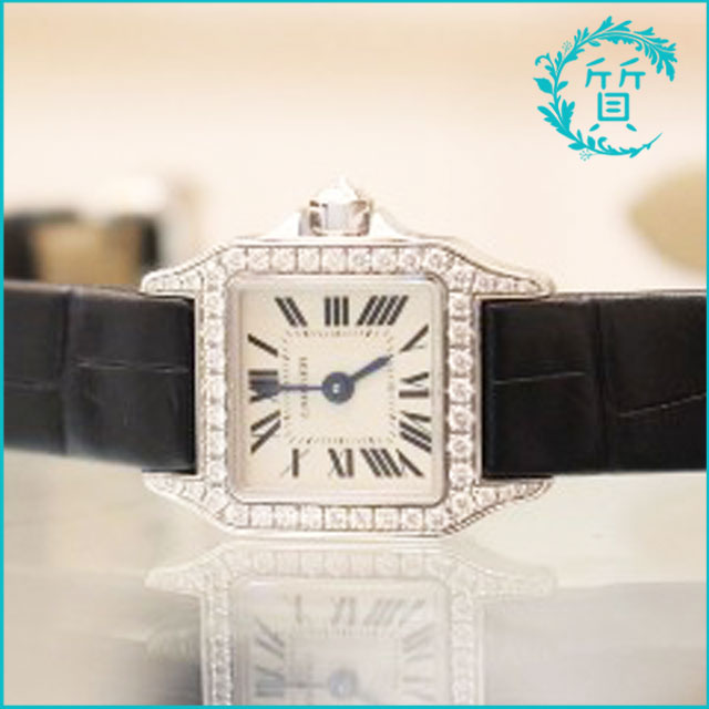 カルティエの時計ミニ サントスドゥモワゼル ダイヤ入り CRWF902005買取価格