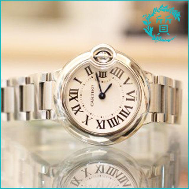 カルティエの時計バロンブルーSM!W69010A4買取価格
