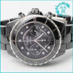 シャネルの時計J12 H2419ブラック!ダイヤ入り買取価格