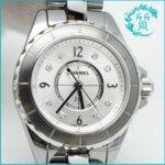 シャネルの時計J12!H3401ダイヤ入りクロマティック買取価格