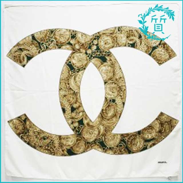 シャネルCHANELのスカーフ!ココマーク柄シルク100%買取価格