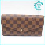 ルイヴィトンの長財布ダミエ ポルトフォイユ・サラ N63209買取価格