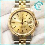 ロレックスの時計デイトジャスト16233 W番!買取価格