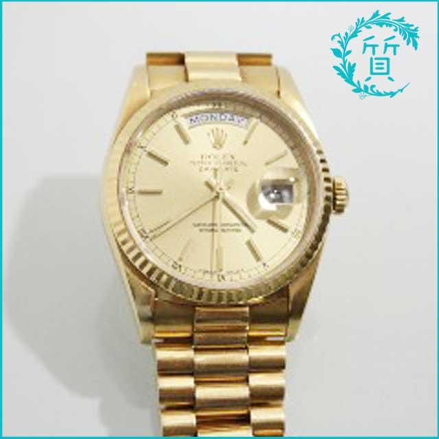 ロレックスの時計デイデイト18238 R番!買取価格