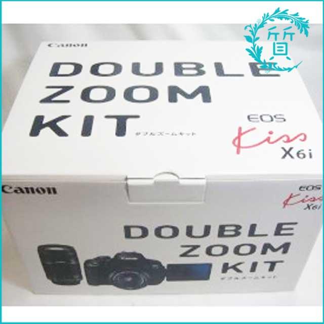 キャノンの一眼レフカメラ!EOS Kiss X6i ダブルズームキット買取価格
