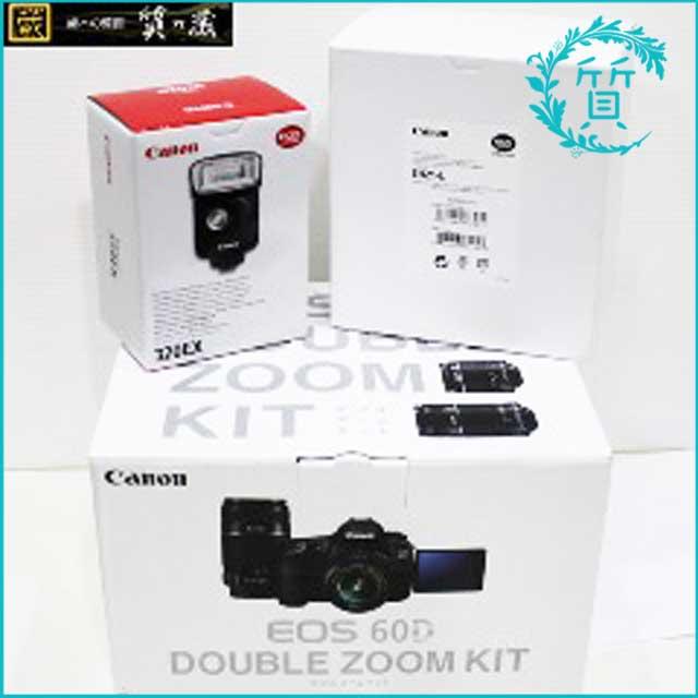 キャノンCanon一眼レフカメラ!EOS60Dダブルズームキット320EX買取価格