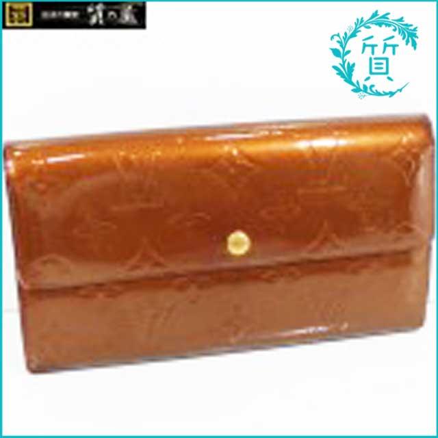 ルイヴィトンのヴェルニ3つ折り長財布!ブロンズM91166買取価格