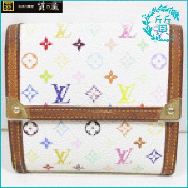 ルイヴィトンのマルチカラー財布!ポルト モネ ビエ カルト クレディM92983買取価格