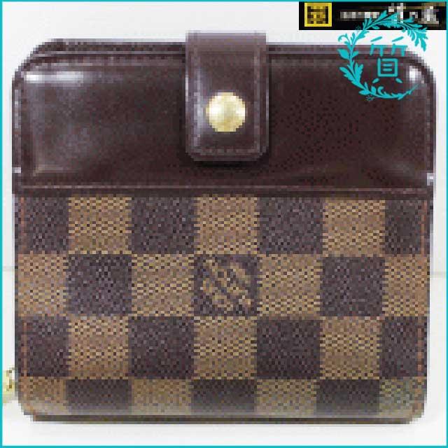 ルイヴィトンのダミエ!コンパクトジップ財布N61668買取価格