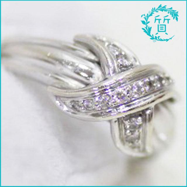 ティファニーのK18指輪!ダイヤ入り買取価格