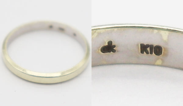 K10金刻印の指輪