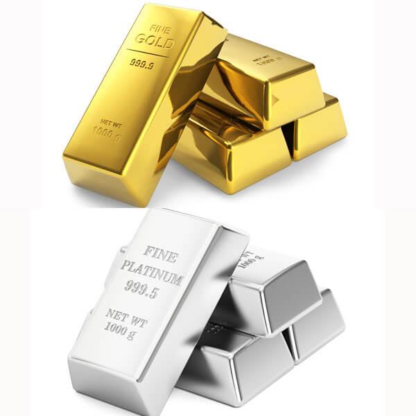 金とプラチナ相場が逆転