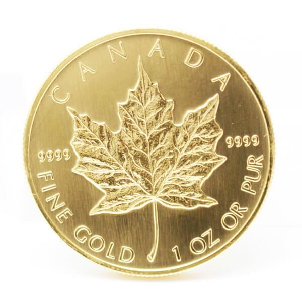メイプルリーフ金貨の本物と偽物の見分け方