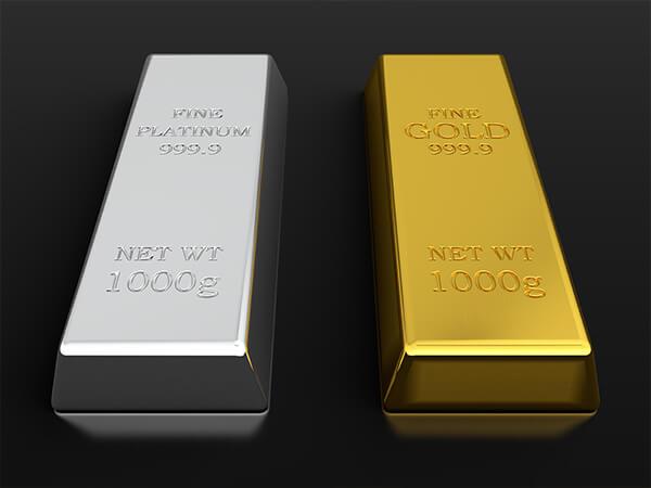金とプラチナどっちが高い?