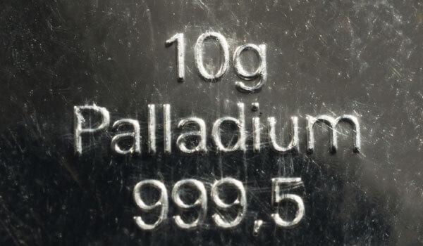 パラジウムのインゴット